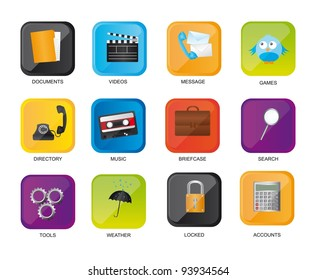 colorful icons web isolated over white background. vector