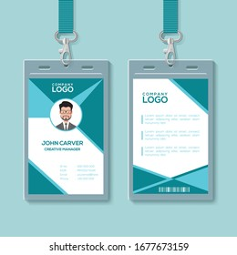 Colorful ID card template Design