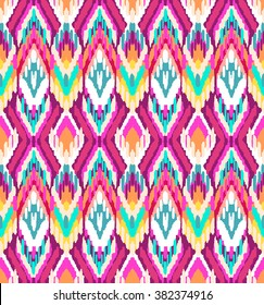 colorful ikat ~ seamless background