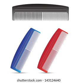 colorful illustration with combs for your design