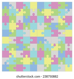 colorful illustration  with  puzzle  on white background