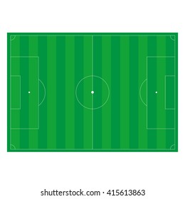 a colorful illustration of a soccer field