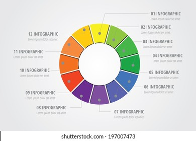 Colorful Info graphic design for layout, presentation, diagram, number options, web design - Vector Illustration