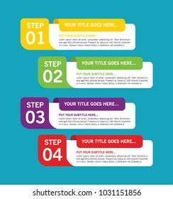 Colorful infographic in four steps