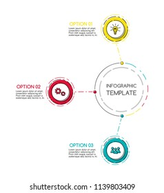 Colorful infographic template with business icons. Vector.