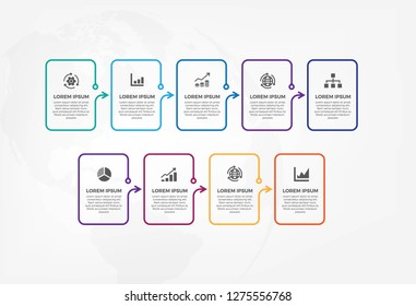 Colorful infographic template with very simple and minimalis design.