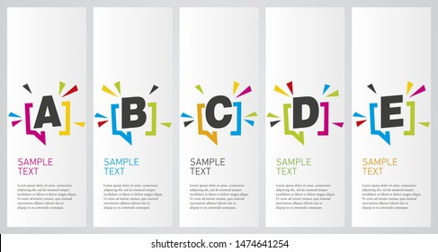 Colorful infographics design vector layout business success concept abcde option step