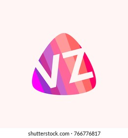 Colorful initial VZ vector design, eps 10