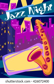 Colorful Jazz Night Poster Design