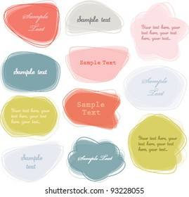Colorful labels / speech bubbles set