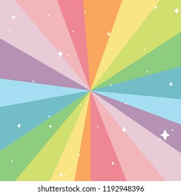 colorful laser beams with white glitters. pastel and rainbow color concept. vector illustration.