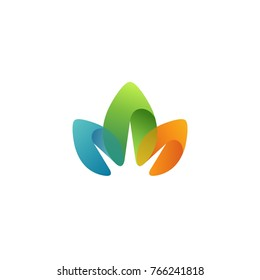 Colorful Leaf Logo