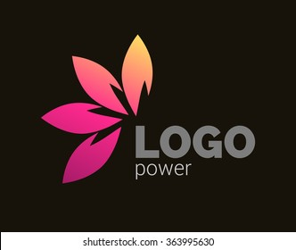 Colorful leaves logo design. Four leaves logotype corporate business