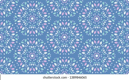 Colorful Leaves Pattern. Endless Background. Seamless