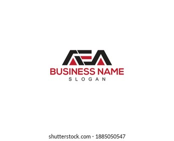 Colorful letter initial AEA logo collection for business