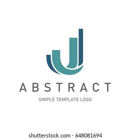colorful letter j font logo design isolated on white background for business visual identity