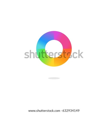 Colorful Letter O Logo Color Wheel Stock Vector Royalty Free