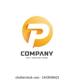 Colorful letter P initial logo collection