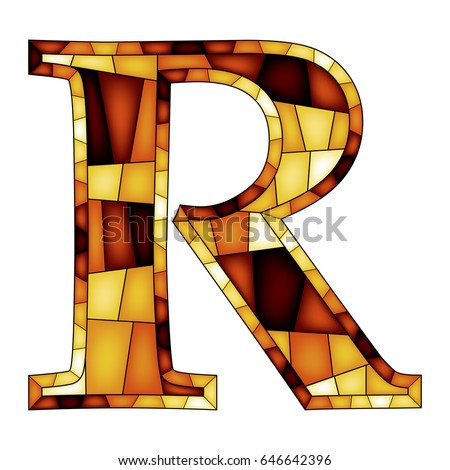 Colorful Letter R Upper Letter Alphabet Stock Vector Royalty Free