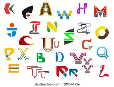 Colorful letter symbols and icons from A to Z. Jpeg version also available in gallery