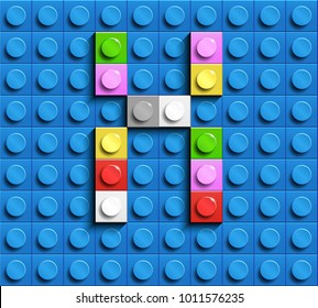 Colorful letters X of alphabet from building lego bricks on blue lego brick background. blue lego background. 3d letters X. Realistic letters