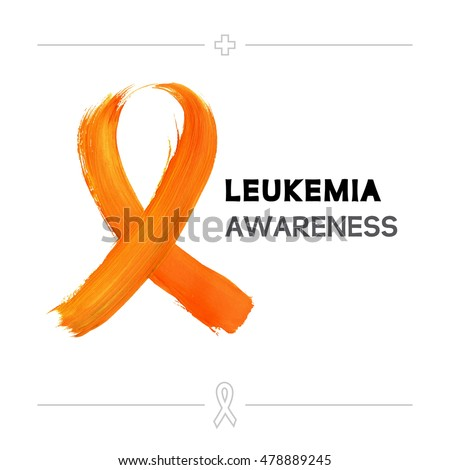 Colorful Leukemia Cancer Awareness Ribbon Isolated Stock Vector