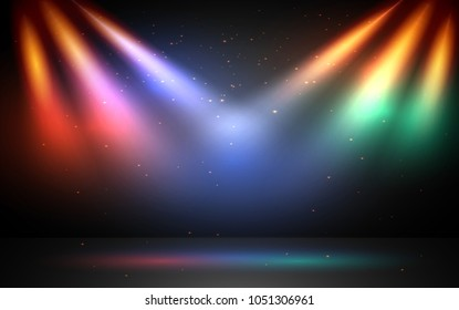 colorful ligths on stage