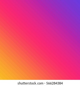 Colorful line background. Inspired by instagram new logo 2016. Simulated gradient using colored lines. Modern colors backdrop template. Vector illustration EPS 10.