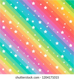 Colorful line and funny stars pattern vector