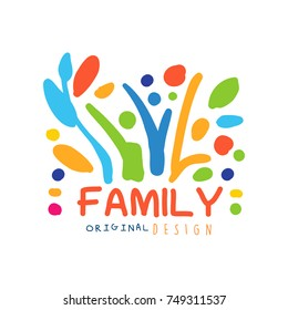 Colorful logo design template for family business