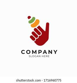 Colorful logo design template for food finger