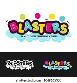 Colorful Logo for Family Entertainment Center - Blasters, vector illustration