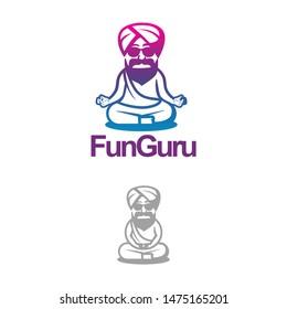 colorful logo guru design template