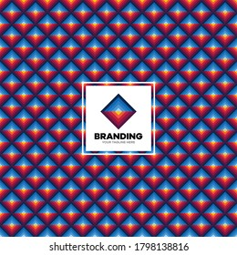 Colorful Logo Pattern design. Seamless colorful square vector pattern background design branding.
