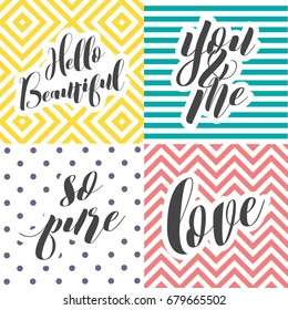 Colorful Love Lettering Set