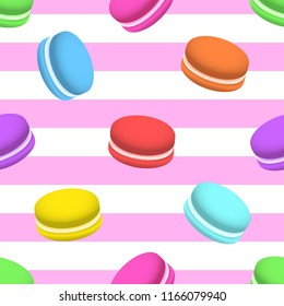 Colorful macaron seamless vector pattern, eps 10. Design for cover, poster, print, paper, promotional and advertising materials.