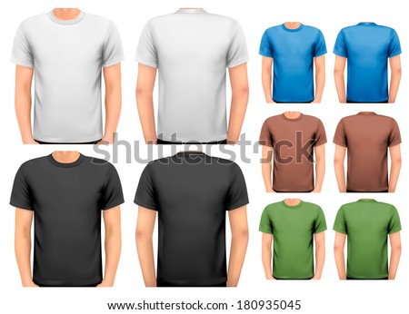 6bd18b79 Colorful Male Tshirts Design Template Vector Stock Vector (Royalty ...