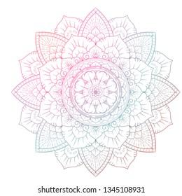 a colorful mandala flower vector