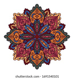 Colorful mandala zentangle ornament vector illustration