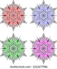 Colorful Mandalas - vector