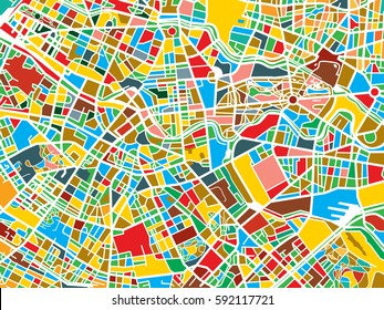 Colorful map of a city