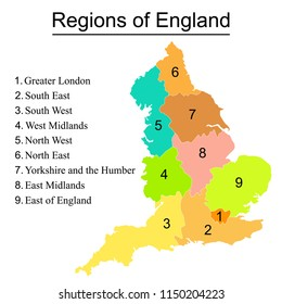 Map Of England Showing Yorkshire.England Map Yorkshire Images Stock Photos Vectors Shutterstock