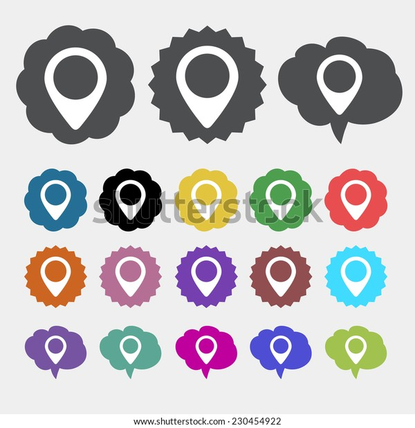 Colorful Map Markers icon
