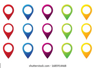 Colorful Map pointer icon. GPS location symbol. vector Illustration,
