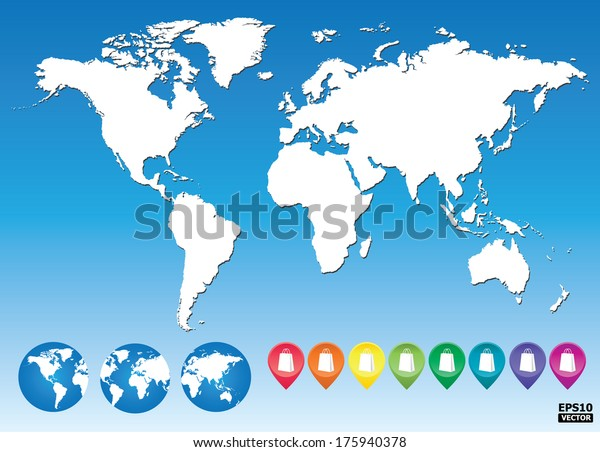 sky mall world map Colorful Map Pointers Shopping Mall Market Stock Vector Royalty