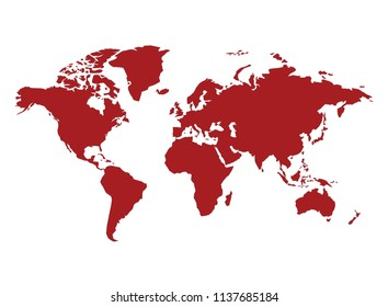colorful map in white background