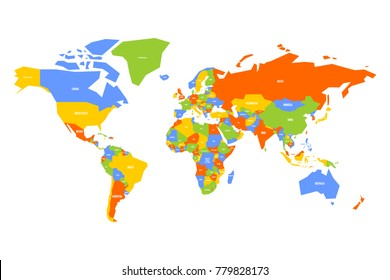 World map with country names images stock photos vectors colorful map of world simplified vector map with country name labels gumiabroncs Image collections