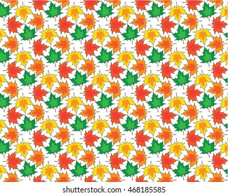 Colorful Maple Leaves Pattern