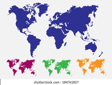 colorful maps of the Earth's.