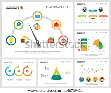 Colorful Marketing Consulting Concept Infographic Charts